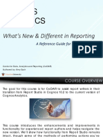 Cognos Analytics - Whats New Different in Reporting Slidedeck
