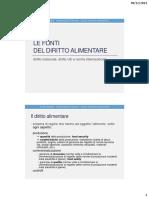 01. Le Fonti Del Diritto Alimentare