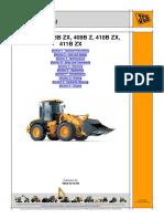 JCB 407B ZX 408B ZX 409B Z 410B ZX 411B ZX Wheeled Loader Service Repair Workshop Manual