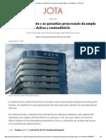Redirecionamento e as Garantias Processuais Da Ampla Defesa e Contraditório - JOTA Info