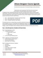 Altium Special Ops Agenda