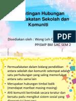 Kepentingan Hubungan Permuafakatan Antara Sekolah Dan Komuniti (Wong)