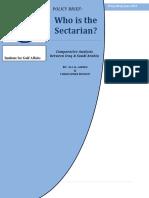 Who is the Sectarian Saudi Arabia or Iraq?