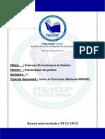 S4 - Informatique de Gestion (Cours MERISE)