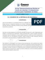 2014 (DEROGADO) Ley de Control de Las Telecomunicaciones Móviles en Centros de Privación de ..., Decreto 12-2014