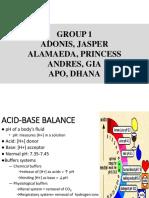 Acid Balance Group 1