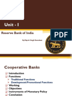 Topic - Unit I RBI