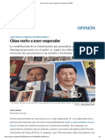 China Vuelve a Tener Emperador _ Opinión _ EL PAÍS