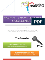 TOURISM,THE MAJOR INDONESIAN STOCK EXCHANGES.pptx