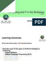 12 c It w Artificial Intelligence