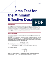 Williams Test for the Minimum Effective Dose