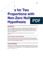 Tests for Two Proportions With Non-Zero Null Hypothesis