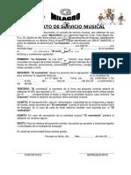 Contrato de Servicio Musical