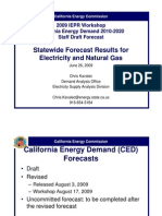 Energy Rate Forecast - Calif Energy Commission June 2009