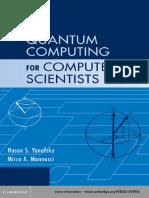 Noson S. Yanofsky, Mirco a. Mannucci - Quantum Computing for Computer Scientists-Cambridge University Press (2008)