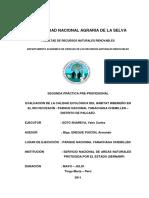 EVALUACIÓN DE LA CALIDAD ECOLÓGICA DEL HÁBITAT RIBEREÑO EN EL RIO ISCOZACÍN - PARQUE NACIONAL YANACHAGA CHEMILLEN – DISTRITO DE PALCAZÚ.