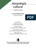 Antropología Cultural Phillip Kottak REC
