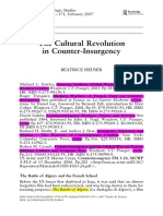THE CULTURAL REVOLUTION IN COUNTER-INSURGENCY.