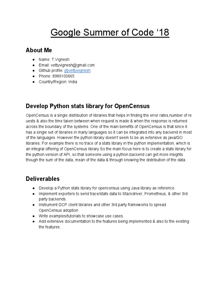 Google Summer of Code | Library (Computing) | Python (Programming