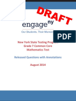 2014 Math Grade 7 Sample Annotated Items