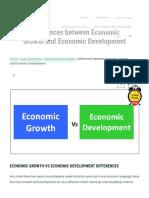 Top Differences Between Economic Growth andEconomic Development