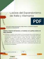 Causas Del Expansionismo de Italia y Alemania