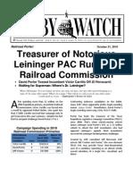 Lobby Watch Report on David Porter