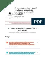 """Notas de """" El Cisne Negro. Nueva Edición Ampliada y Revisada, El Impacto de Lo Altamente Improbable """""""