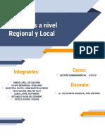 Proyectos Regionales y Locales