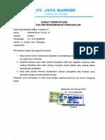 Surat Pernyataan manajemennya tidak dalam pengawasan pengadilan, tidak pailit.pdf