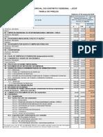 Tabela Junta Comercial do DF