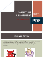signature assignment