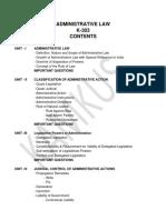 Administrative Law K-303