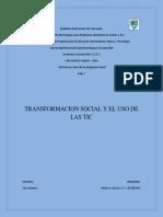 Transformacion Social y El Uso de Las Tic