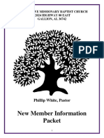 new member packet