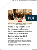 Yanis Varoufakis - A Letter to My Daughter About the Black Magic of Banking