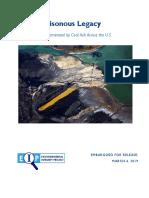 National Coal Ash Report Embargoed for 3.4.19