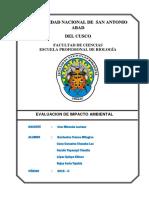 ESTUDIO DE LINEA BASE BIOLOGIA UNSAAC