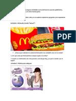 Actividades anuncios publicitarios