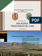 INDICADORES TRADICIONALES DEL CLIMA