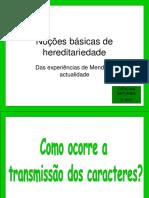 Hereditariedade Mendel 9cap1112