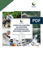 Especializacion Gestion Integrada Recurso Hidrico
