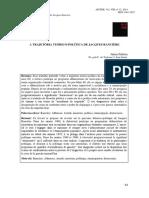 A tragetória teórico-política de Jacques Ranciere