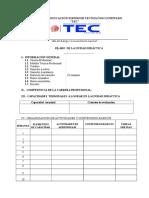 Formato de silabus TEC