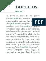 Oligopolios en El Peru