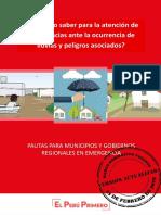 Pautas Para Municipios y Gobiernos Regionales en Emergencia