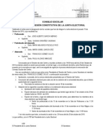 Acta de La Sesion Constitutiva de La Junta Electoralconsejo Escolar Leon 2010