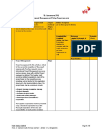 10. Annexure [10] Project Management Policy Requirements