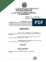 Resolucao 399_2012 - Regimento Interno - Resolucao 399 12 Atualizado Ate Resolucao 437-2017