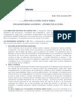 Manifiesto Jpp Montoneras Alfaristas